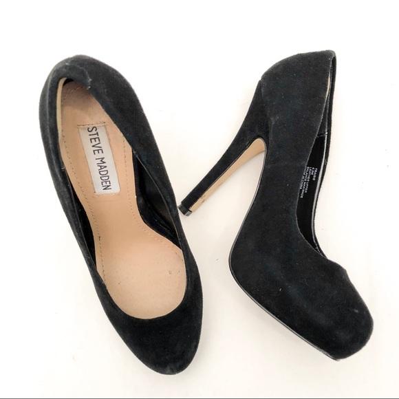 a309e6c099c Steve Madden Traisie Suede Leather Heels 6.5 EUC. M 5ad509989d20f0de2123e875